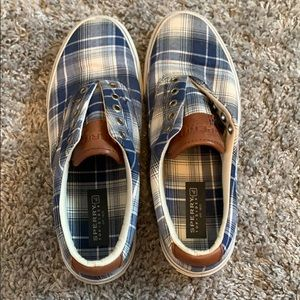 MENS Sperry plaid shoes